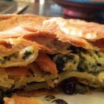 Pie with cheese and spinach (Marleen) on Kookhistorie